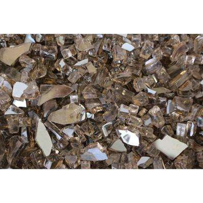 10 lbs. Bag Reflective Fire Pit Fire Glass in Bronze