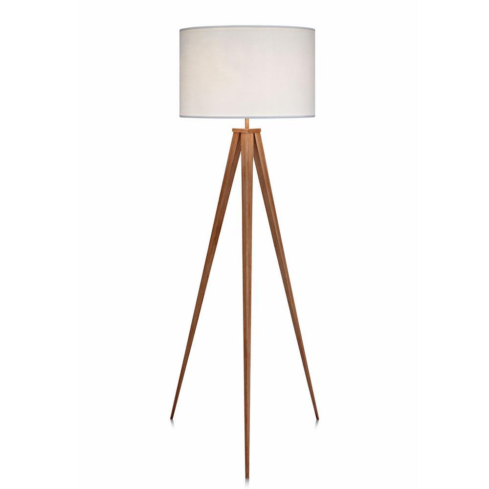 Romanza Tripod Floor Lamp with White Shade