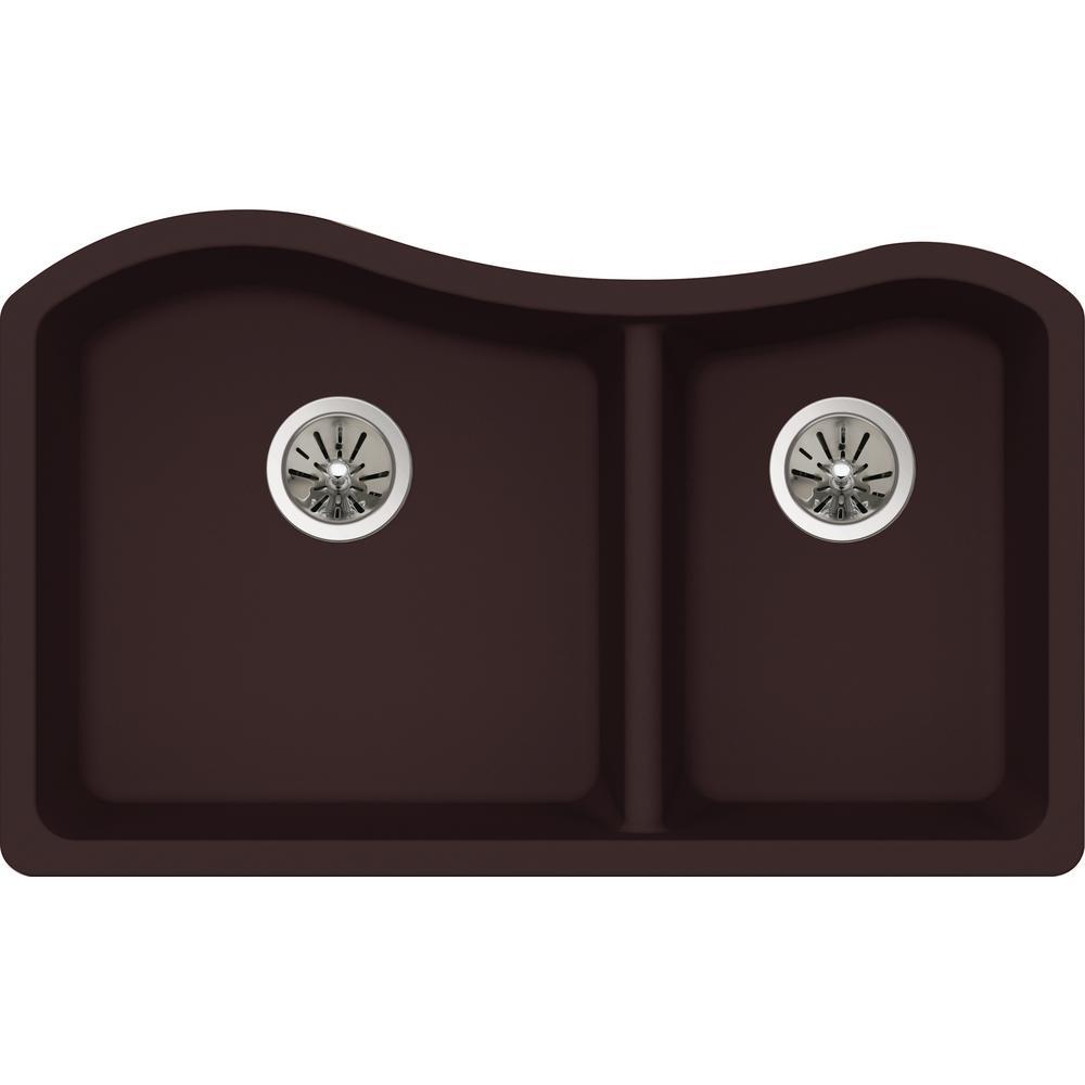 elkay premium quartz undermount composite 33 in double. Black Bedroom Furniture Sets. Home Design Ideas