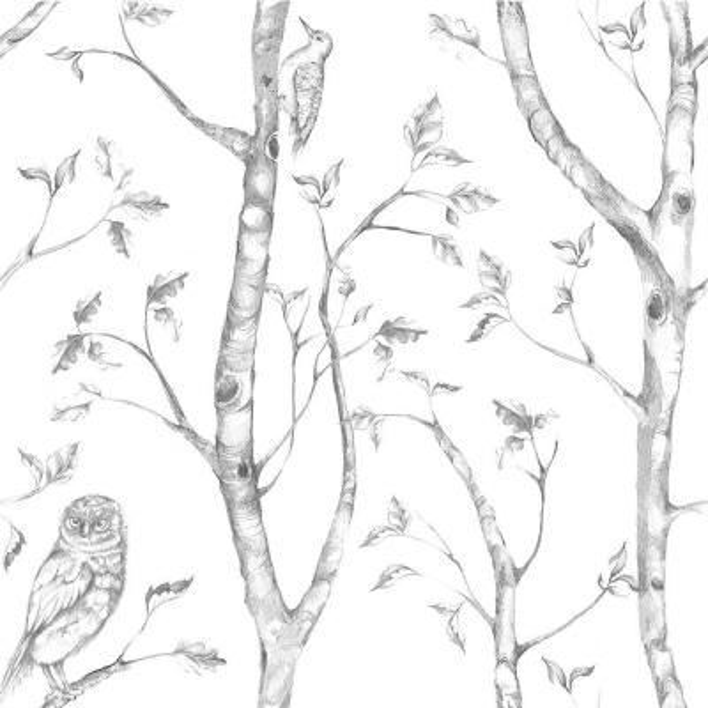 Grey Woods Peel and Stick Wallpaper Sample