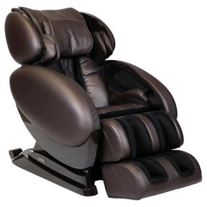 Infinity IT-8500 X3 Brown Deluxe 3D Massage Chair with Bluetooth Compatibility and Lumbar Heat