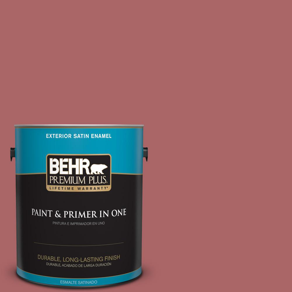 1 gal. #PPU1-06 Rose Marquee Satin Enamel Exterior Paint