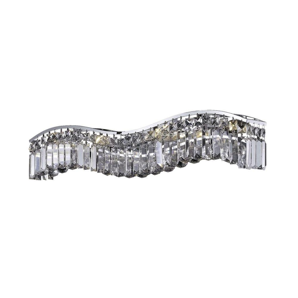 Elegant Lighting 6-Light Chrome Sconce with Clear Crystal