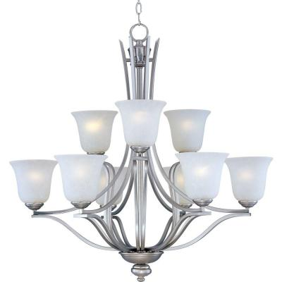 Madera 9-Light Satin Silver Chandelier