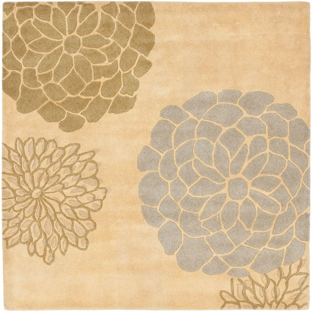 Soho Beige/Multi 6 ft. x 6 ft. Square Area Rug