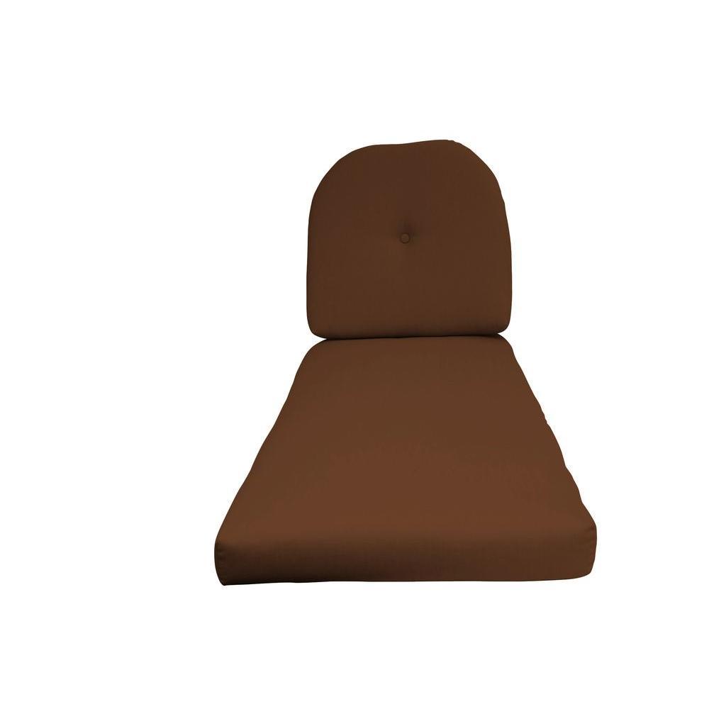 Sunbrella Sierra 2-Piece Outdoor Chaise Lounge Cushion