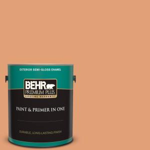Behr Premium Plus 1 Gal M220 5 Roasted Seeds Semi Gloss Enamel Exterior Paint And Primer In One 540001 The Home Depot