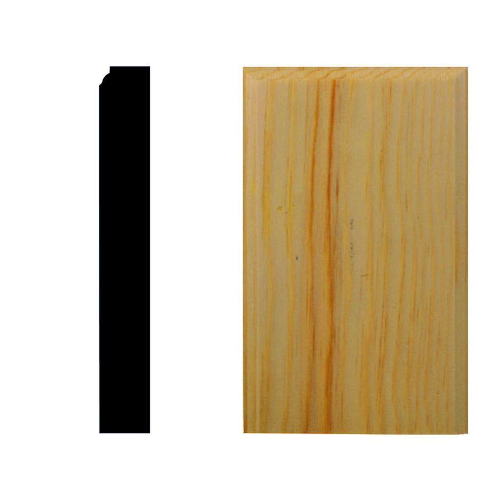 House of Fara 7/8 in. x 2-1/2 in. x 5 in. Pine Plinth Block