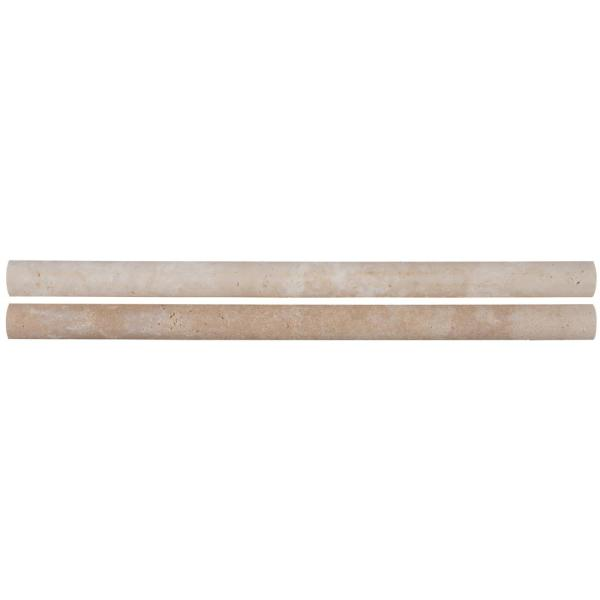 Ivory Pencil Molding 3/4 in. x 12 in. Honed Travertine Wall Tile (1 lin. ft.)