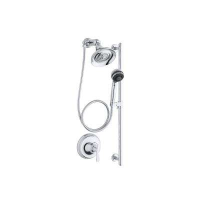 Forte 3-Spray Round Performance Showering Package in Polished Chrome (Valve Not Included)