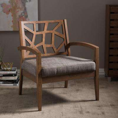 Jennifer Grey Fabric Upholstered Lounge Chair