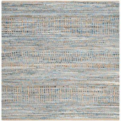 Cape Cod Natural Blue 8 Ft X Square Area Rug