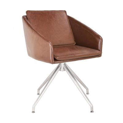 Browny Brown Faux Leather Dining Chair