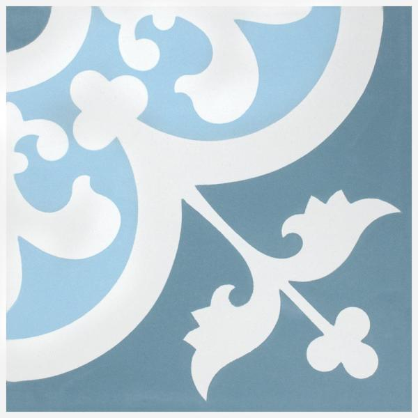 Merola Tile Cemento Empress Ocean Encaustic 8 In X 8 In Cement Handmade Floor And Wall Tile 5 51 Sq Ft Case Fvbcemoc The Home Depot