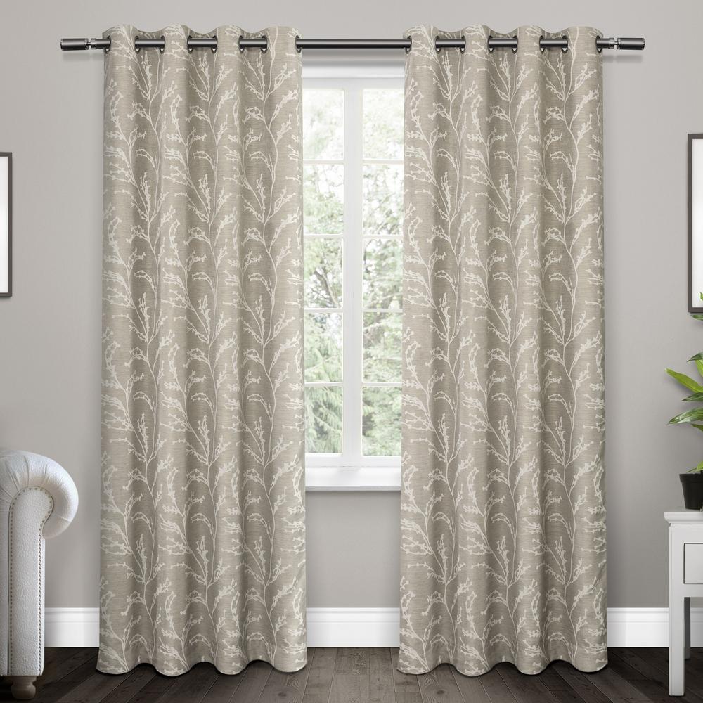 Woven Blackout Grommet Top Curtain