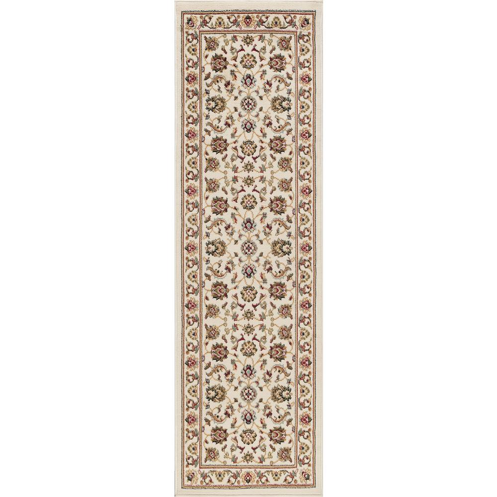Hampton Traditional Ivory 2 ft. x 10 ft. Runner Rug