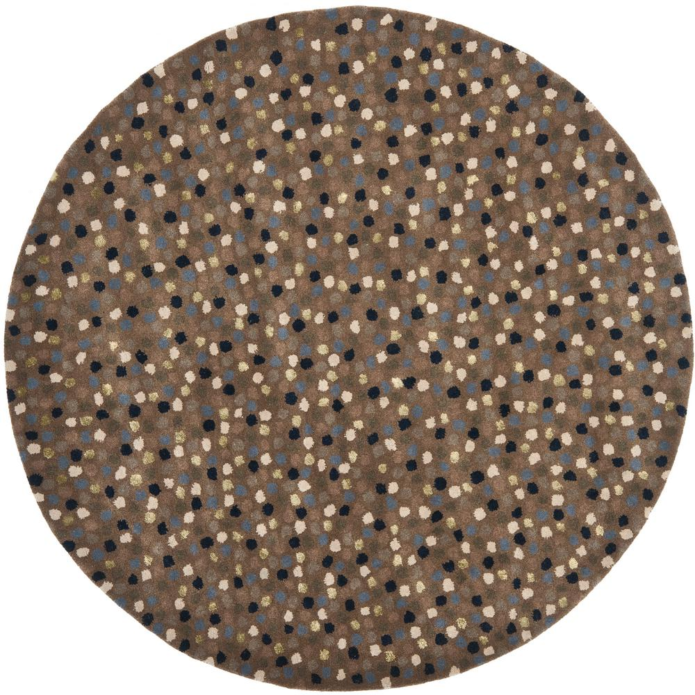 Soho Dark Gray/Multi 6 ft. x 6 ft. Round Area Rug
