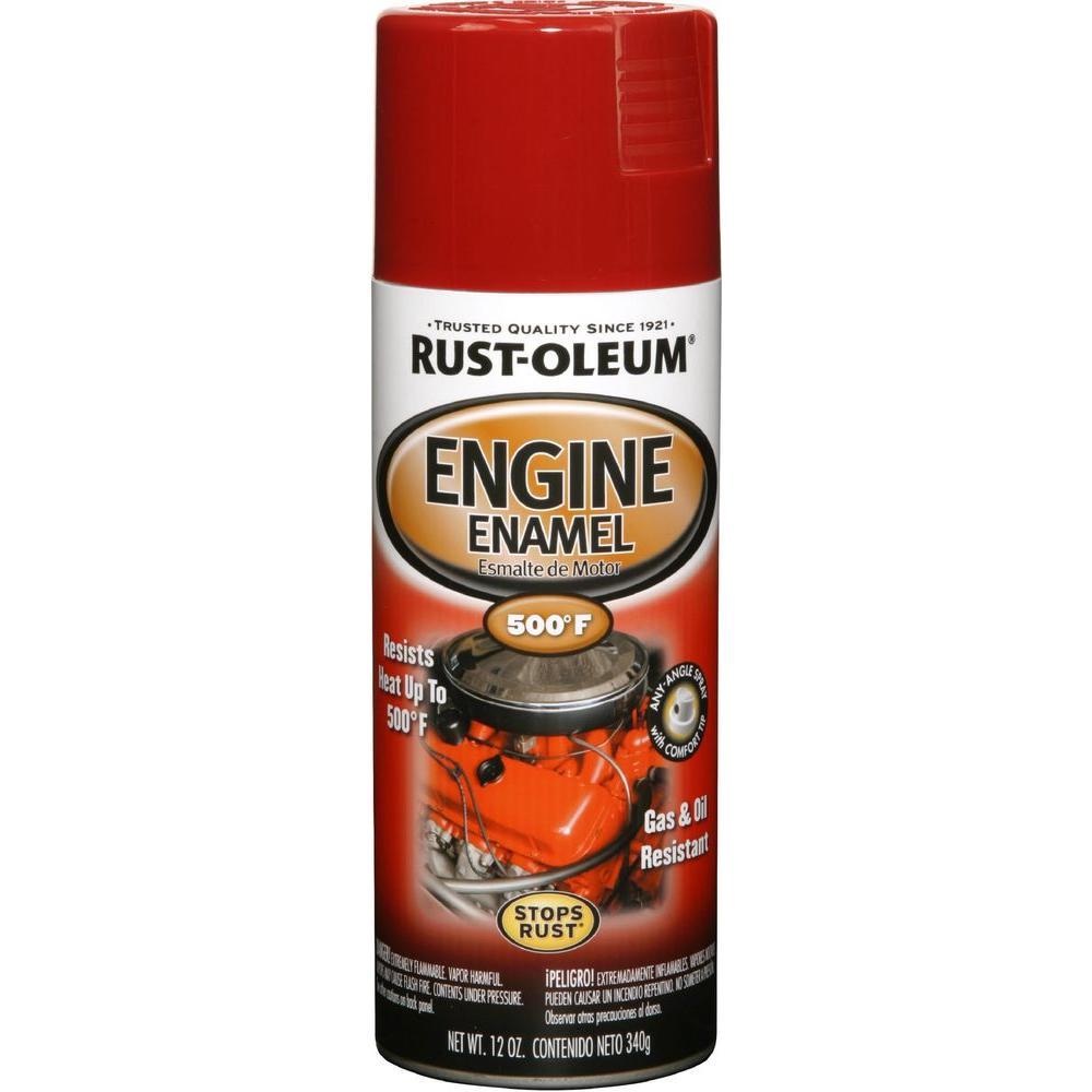 Rust-Oleum Automotive 12 oz. 500 Degree Universal Red Engine Enamel Spray Paint (6-Pack)