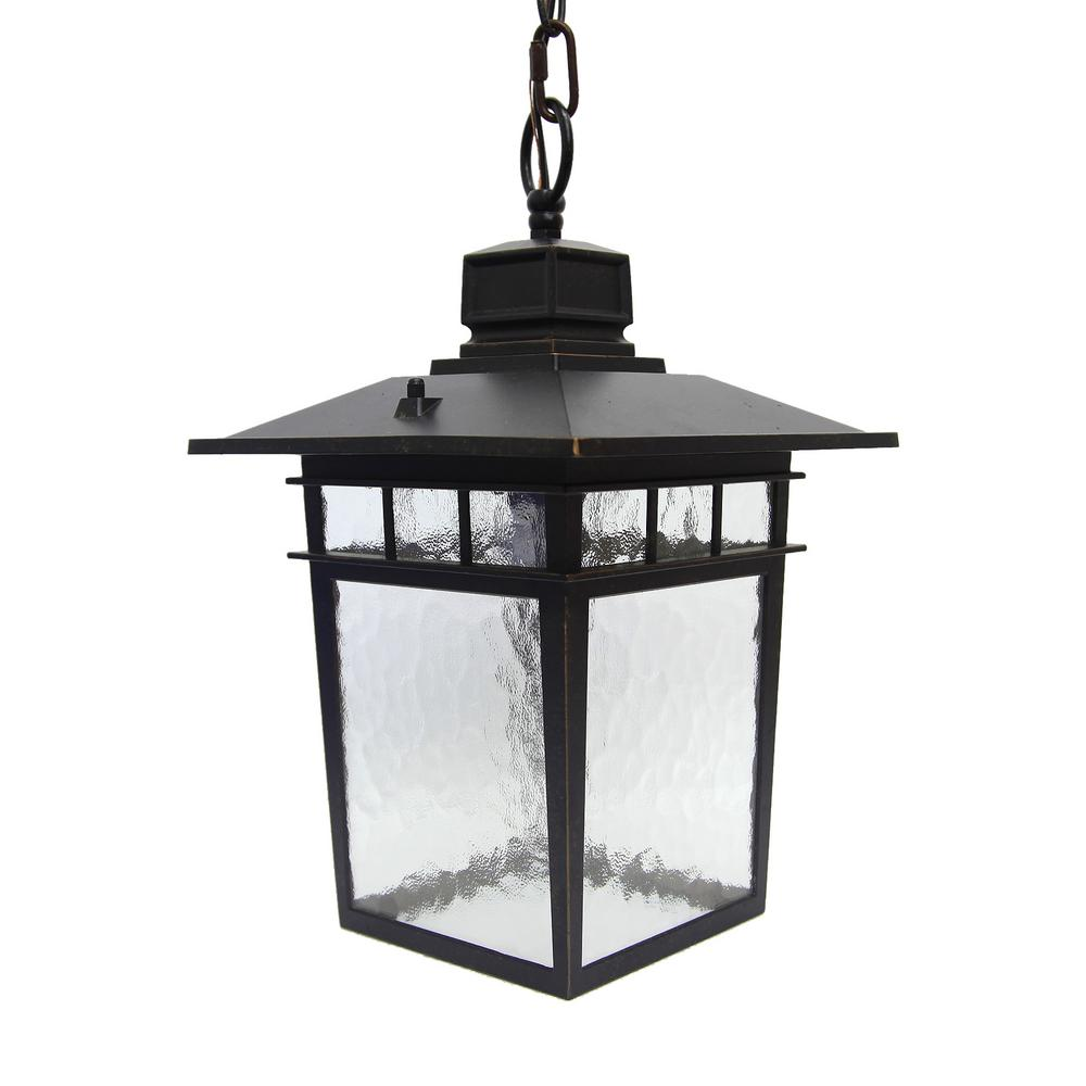 Outdoor Hanging Decorative Lanterns: Y Decor Cullen 1-Light Oil-Rubbed Bronze Outdoor Hanging