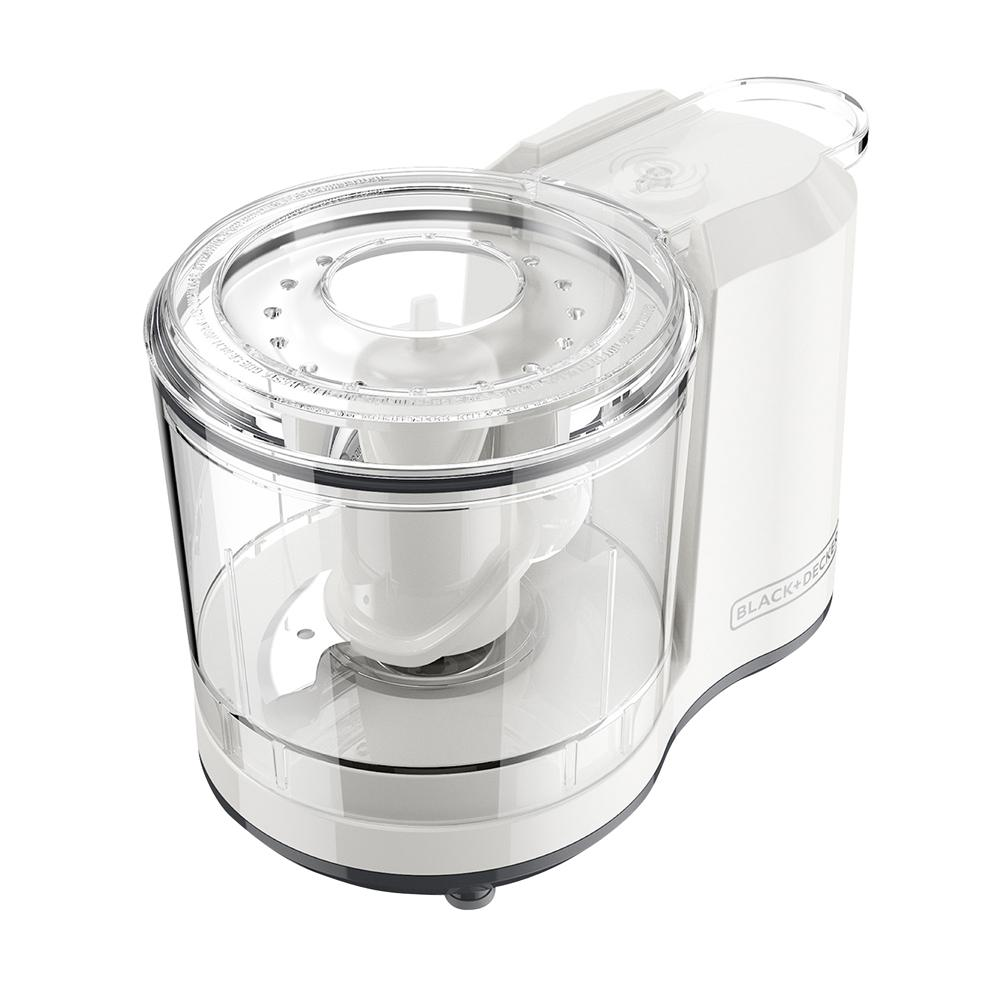 One-Touch 1.5-Cup Electric Food Chopper, White