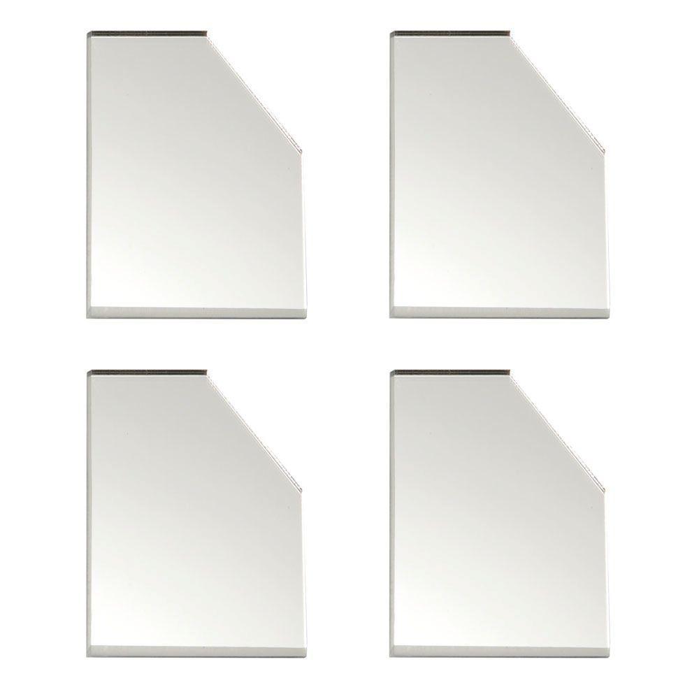 Mirredge Acrylic Mirror Corner Plates 4 Pack 32504 The