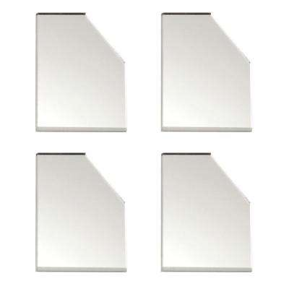 Acrylic Mirror Corner Plates (4-Pack)