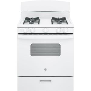 gas oven in white