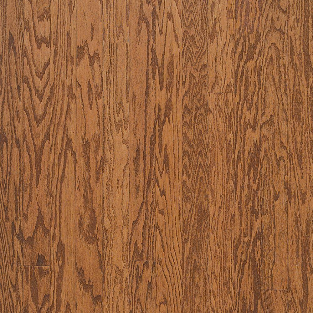 Bruce town hall oak gunstock 3 8 in thick x 3 in wide x for Bruce hardwood floors 3 8