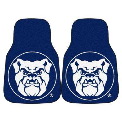 Butler University 18 in. x 27 in. 2-Piece Carpeted Car Mat Set