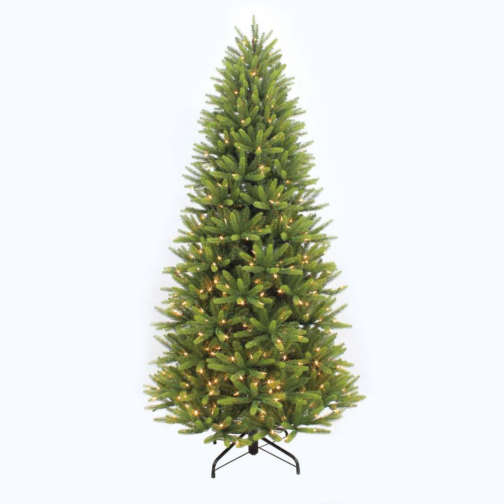 7 5 Ft Pre Lit Led Balsam Fir Artificial Christmas Tree