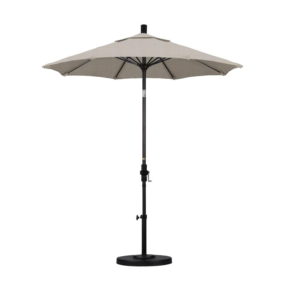 7-1/2 ft. Fiberglass Collar Tilt Patio Umbrella in Granite Olefin
