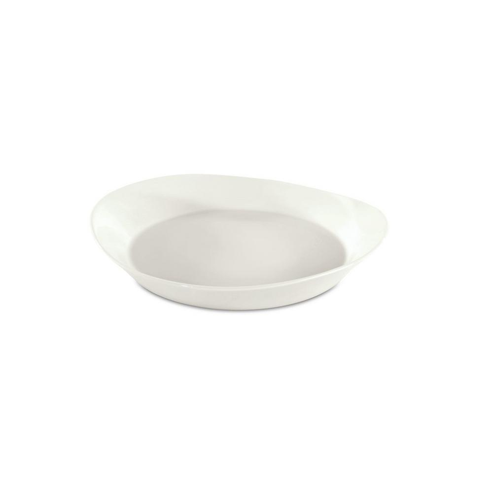 Eclipse White Porcelain Pasta Plate (Set of 4)