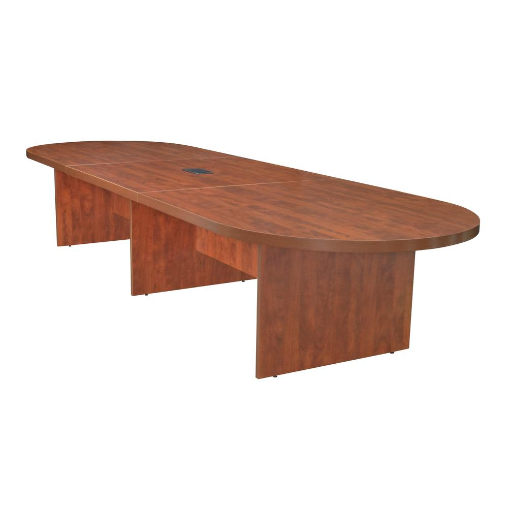 Legacy 168 in. Cherry Modular Racetrack Conference Table with Power Data Grommet