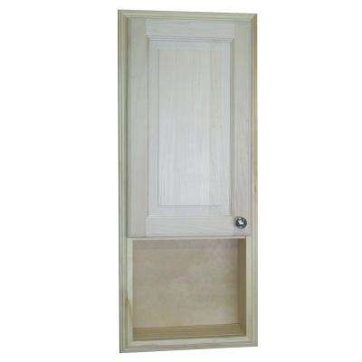 Napa Valley 15.5 in. W x 37.5 in. H x 3.5 in. Recessed Medicine Storage Cabinet with Raised Panel Door and Newport Trim