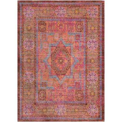 Germili Bright Pink 9 ft. x 11 ft. 10 in. Indoor Area Rug