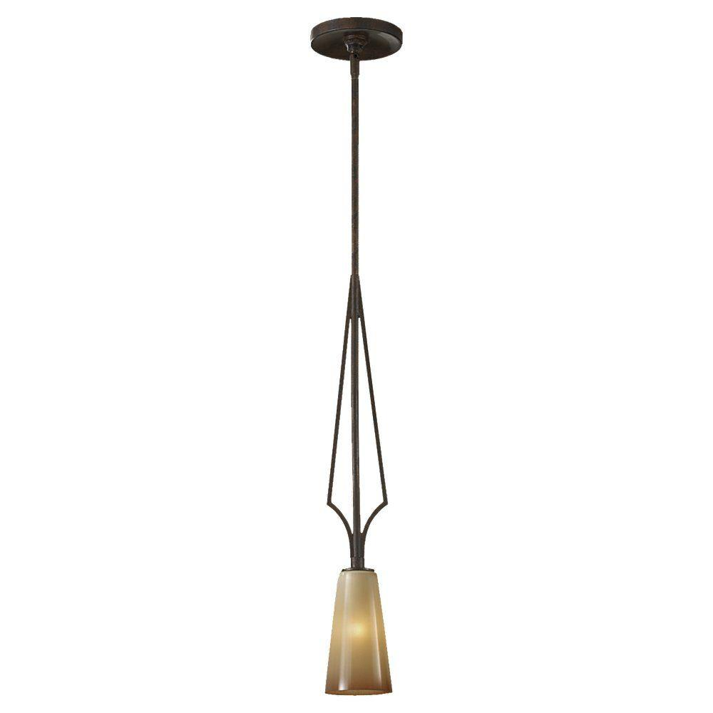 Feiss El Nido 1-Light Mocha Bronze Mini Pendant