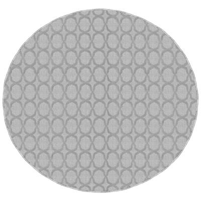 Sparta Silver 7 ft. 6 in. x 7 ft. 6 in. Round Trellis Area Rug