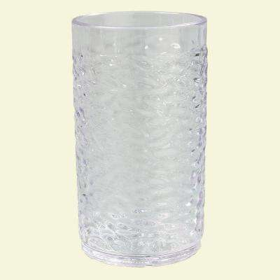 8 oz. SAN Plastic Pebble Optic Tumbler in Clear (Case of 24)