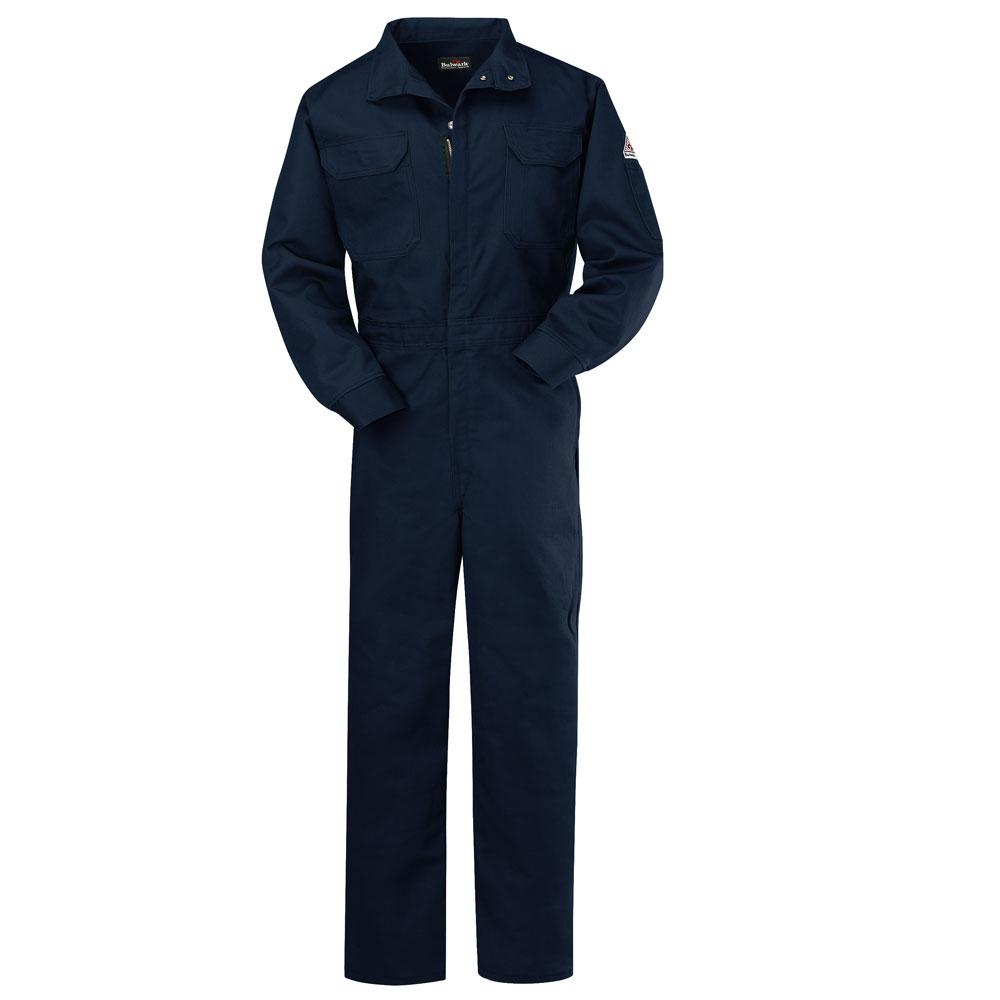 Red Kap Men's Size 42 (Tall) Navy Snap Front Cotton Coverall