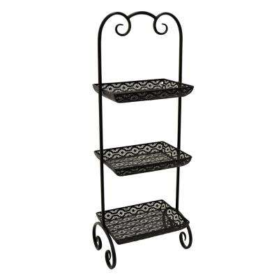 10 in. x 14 in. Metal Rack in Black