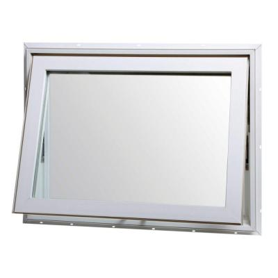31.75 in. x 18 in. Awning Vinyl Window with Screen - White
