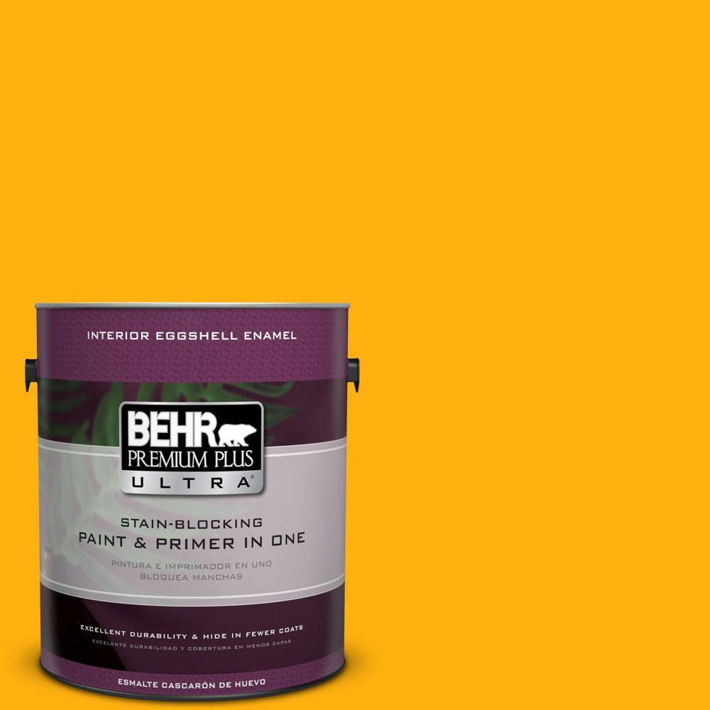 BEHR Premium Plus Ultra 1-gal. #S-G-340 Sun Ray Eggshell Enamel Interior Paint