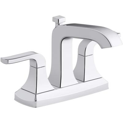 Rubicon 4 in. Centerset 2-Handle Bathroom Faucet in Polished Chrome