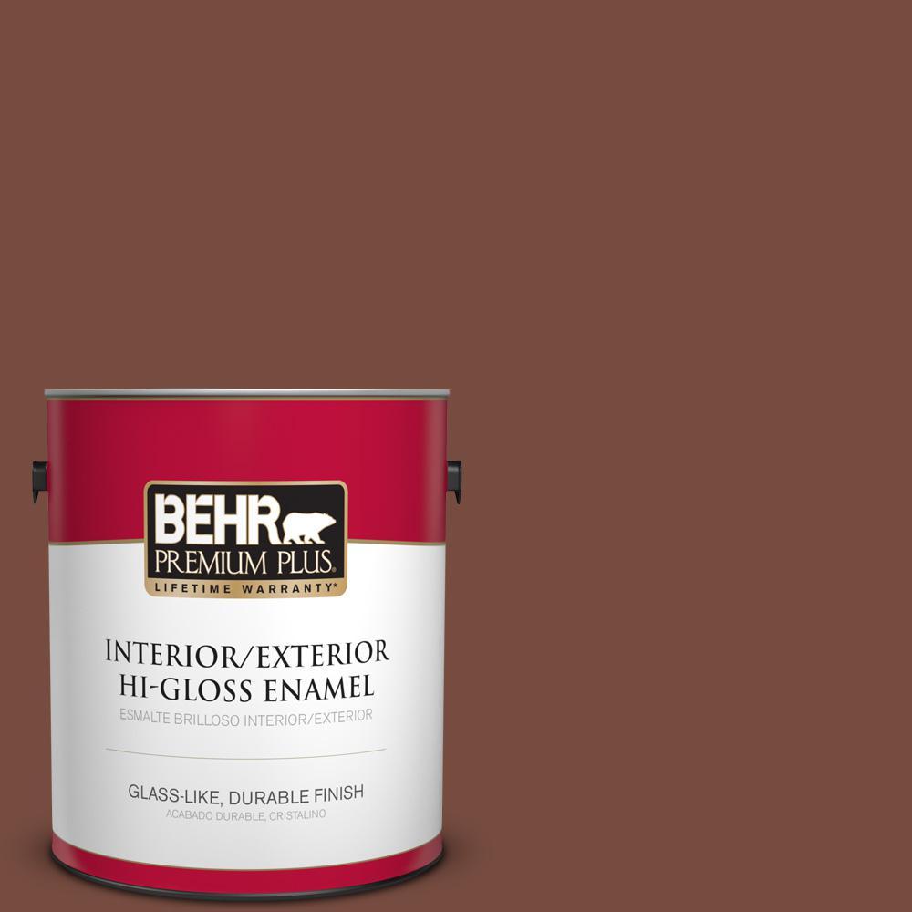 1 gal. #PPU2-19 Royal Liqueur Hi-Gloss Enamel Interior/Exterior Paint