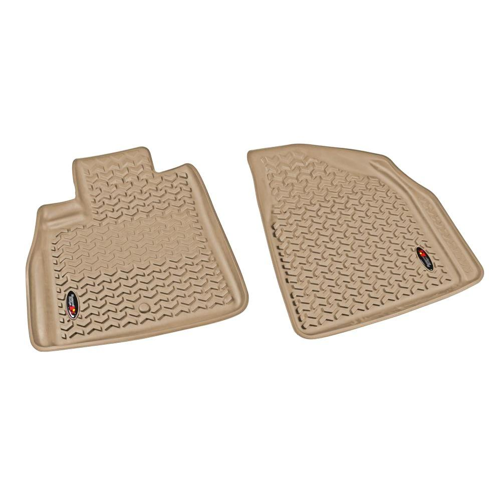 Rugged Ridge Floor Liner Front Pair Tan 2007-2014 GM Acadia/Traverse/Enclave