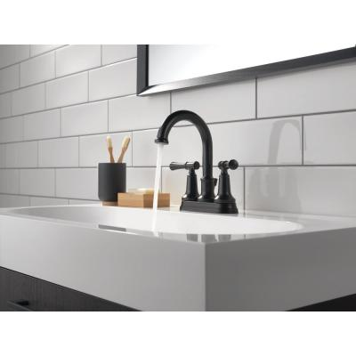 Chamberlain 4 in. Centerset 2-Handle Bathroom Faucet in Matte Black