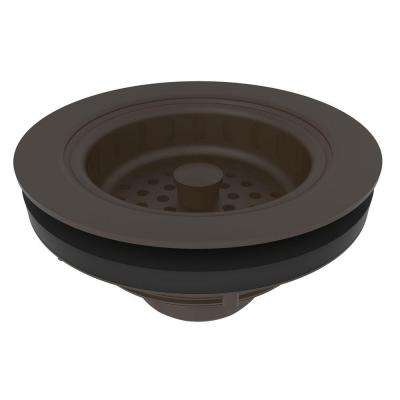 3-1/2 in. Solid Brass Post Type Basket Strainer in Oil Rubbed Bronze