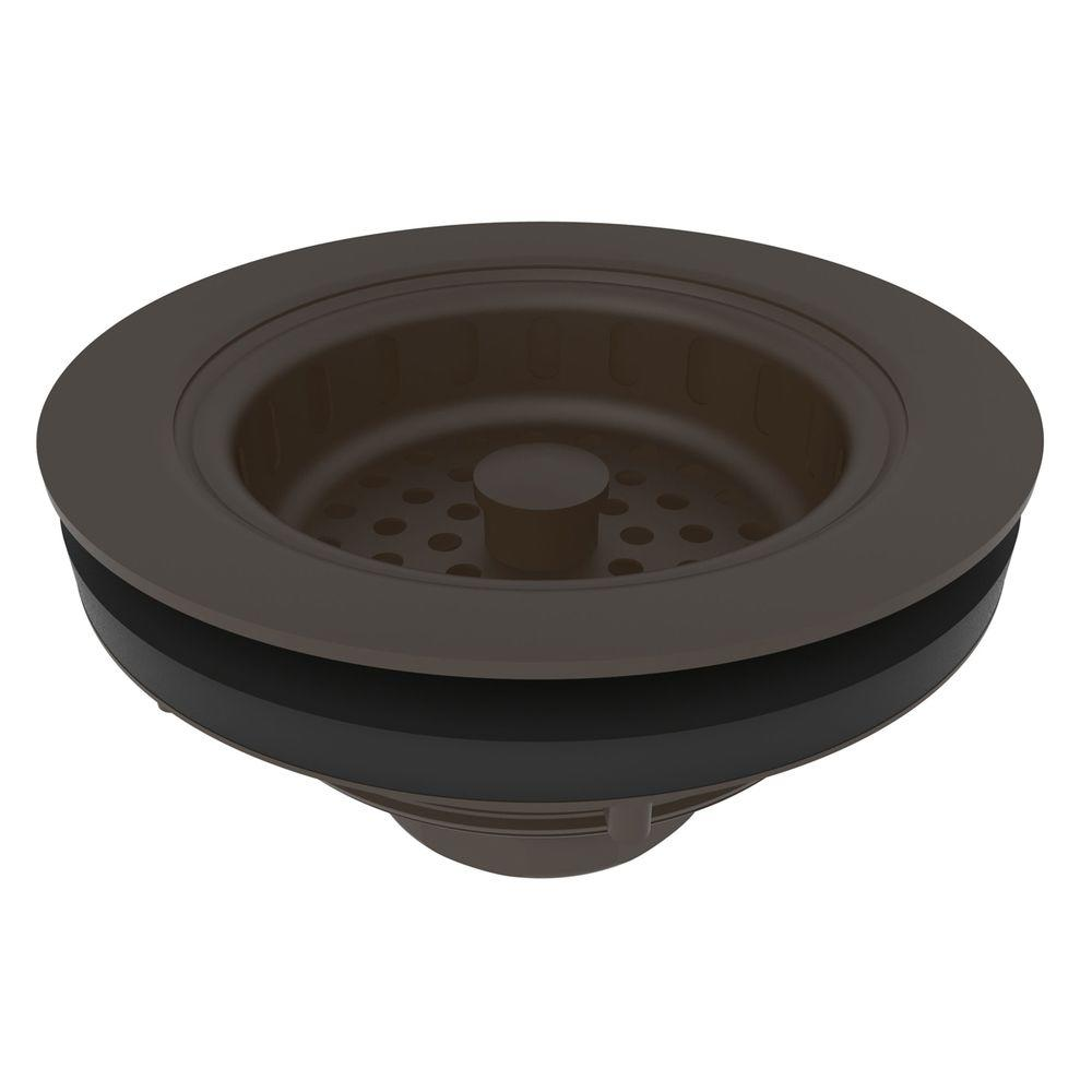 Brasstech 3-1/2 in. Solid Brass Post Type Basket Strainer in Oil Rubbed Bronze