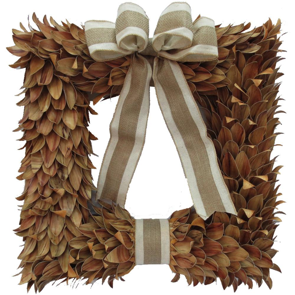Home Accents Holiday 18 in. Artificial Fall Square Wreath