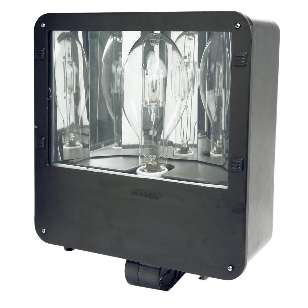 400-Watt Black Outdoor Heavy-Duty Landscape Flood Light with Metal Halide Bulb